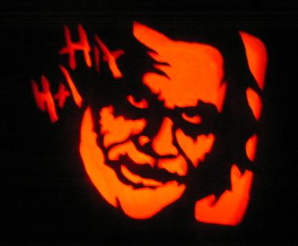 Joker Cut Out Pumpkin