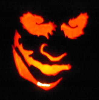 Joker Face Pumpkin
