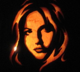 Buffy Cut Out Pumpkin