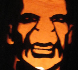 Voldemort Cut Out Pumpkin
