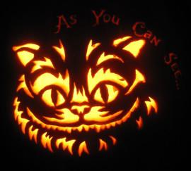 Cheshire Cat Cut Out Pumpkin