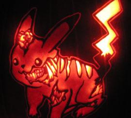 Zombie Pikachu Pumpkin
